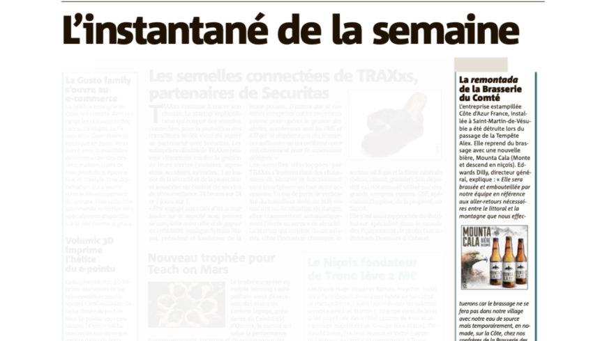 "Article "" La Remontada "" Nice-Matin Page Eco – 07/12/2020"