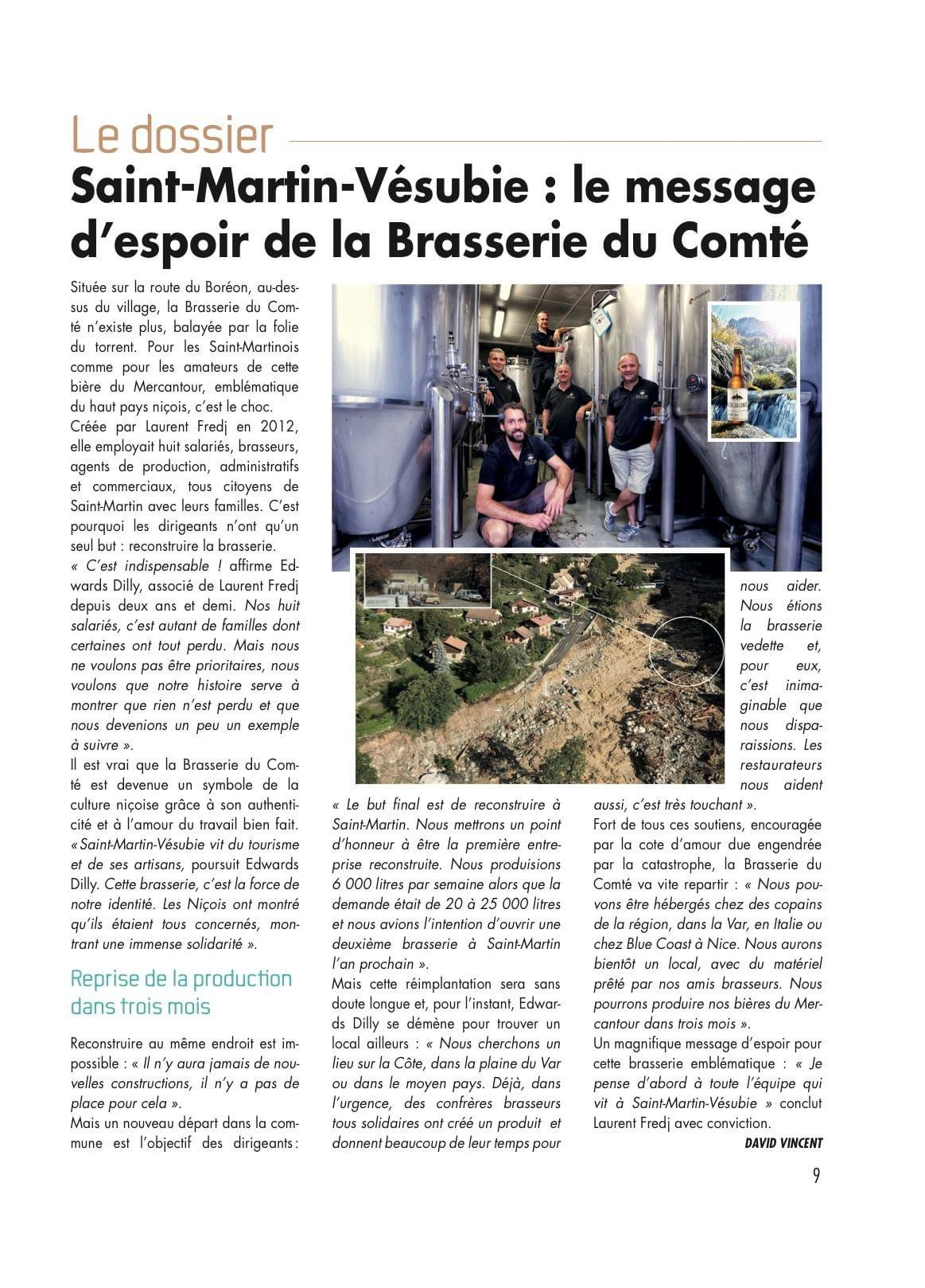 Article  » Le Message d'espoir de la Brasserie du Comté  » Vie Villages – Novembre 2020