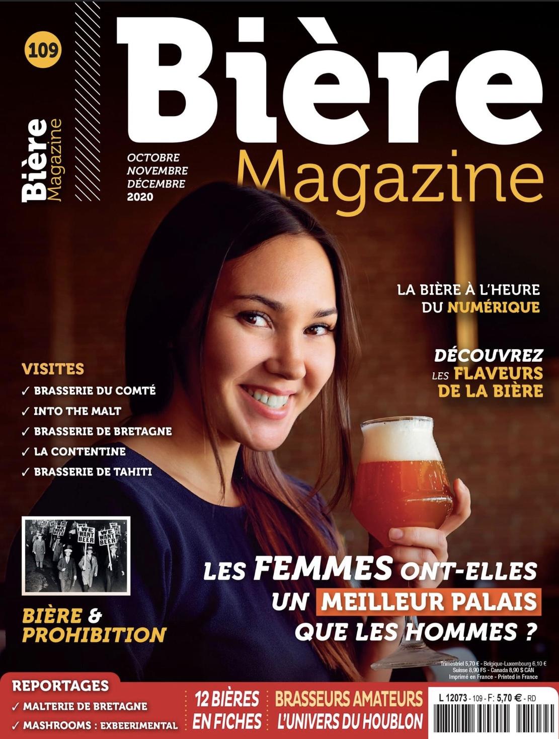 Article » Si la bière m'était Comté…» Biere Magazine Page Couverture – Octobre 2020