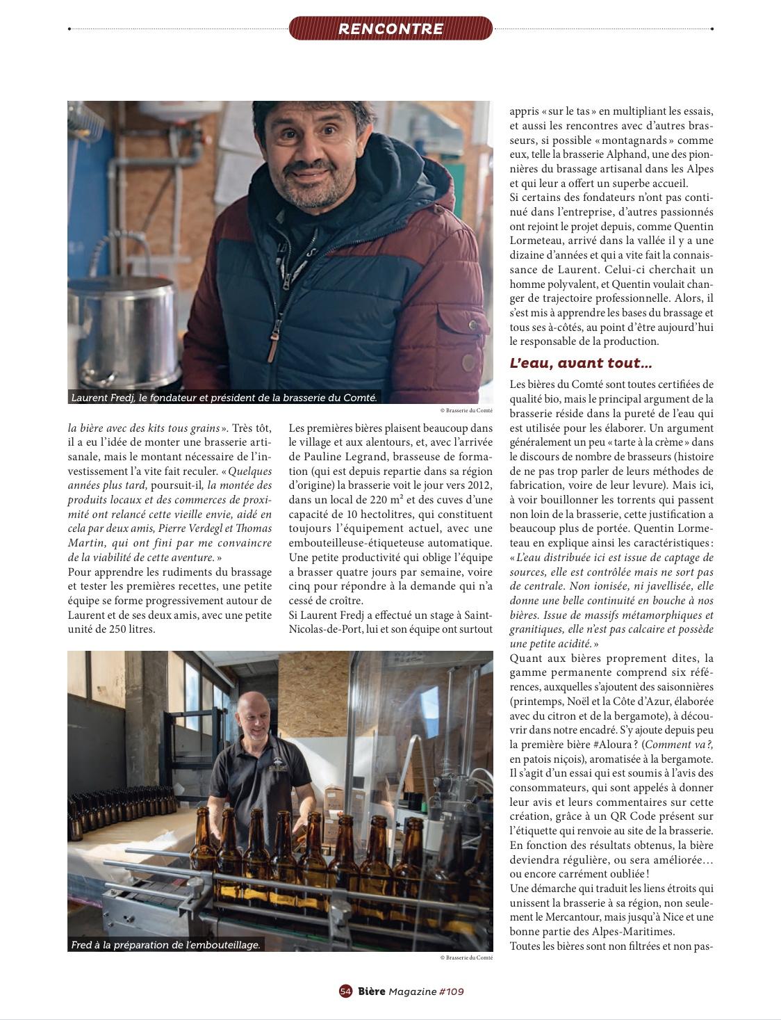 Article » Si la bière m'était Comté…» Biere Magazine Page 3 – Octobre 2020