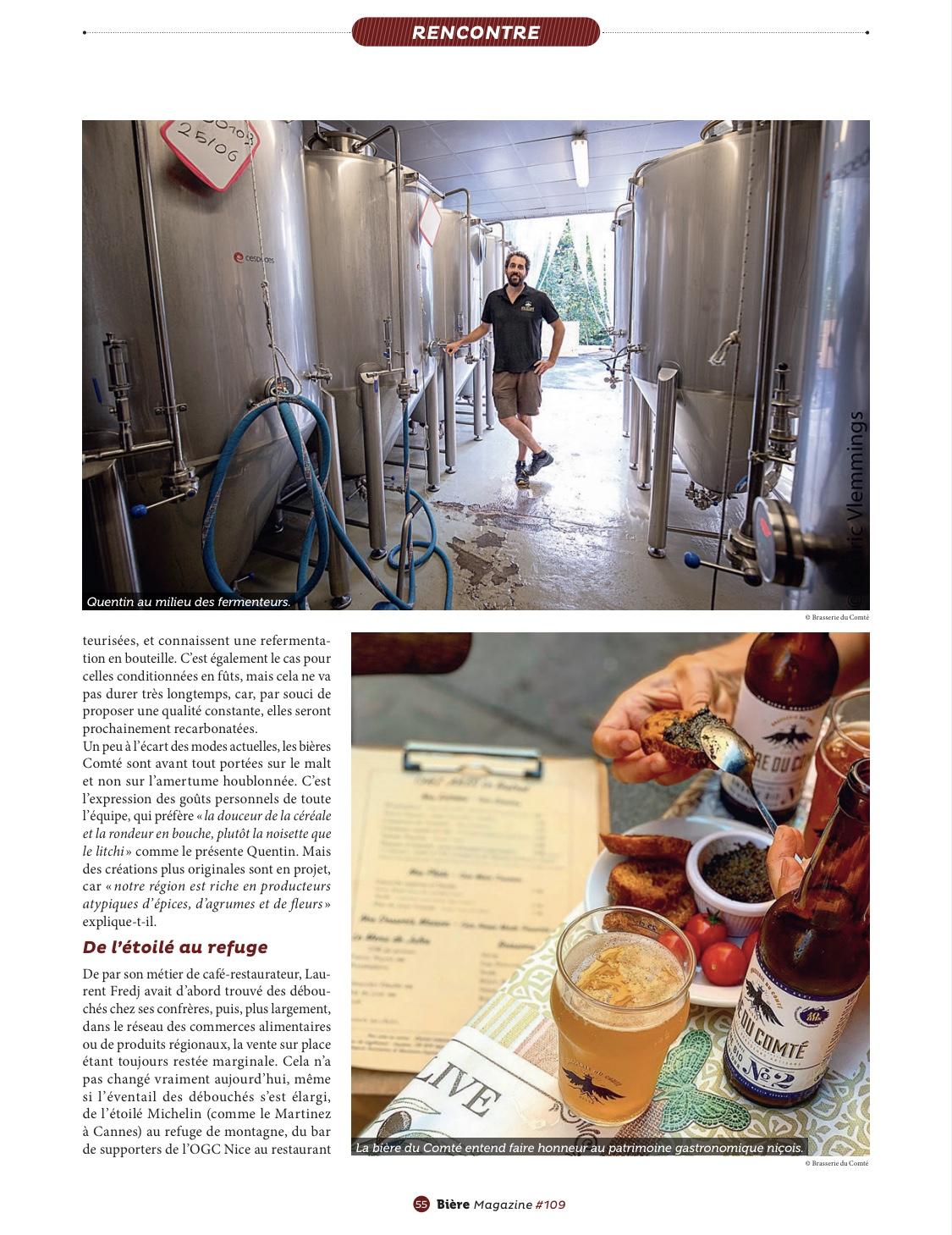"""Article """" Si la bière m'était Comté…"""" Biere Magazine Page 4 – Octobre 2020"""
