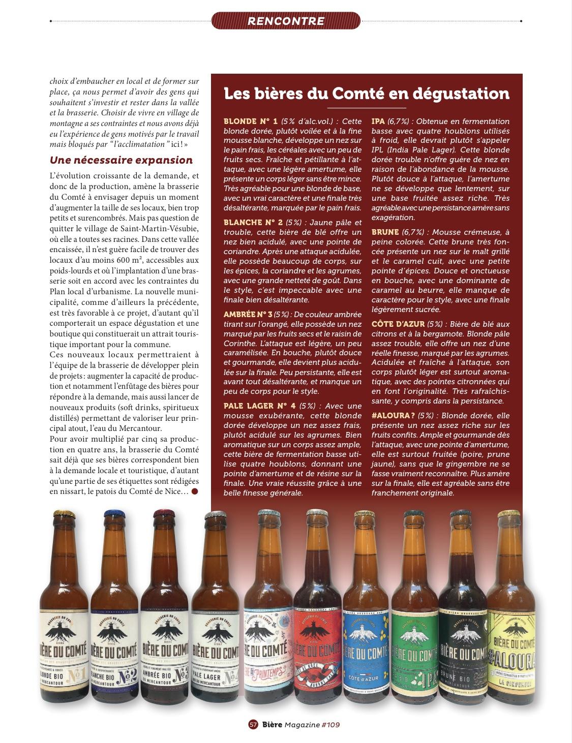 Article » Si la bière m'était Comté…» Biere Magazine Page 6 – Octobre 2020